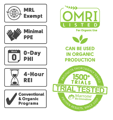 OMRI Listed, MRL Exempt